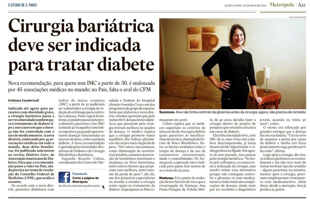 Matéria publicada no Estado de S.Paulo