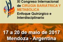 XI CONGRESSO INTERNACIONAL DE CIRURGIA BARIÁTRICA