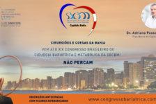 CONVITE PARA O XIX CONGRESSO DA SBCBM – Dr. Adriano Passos Rios, Presidente do Capítulo BAHIA