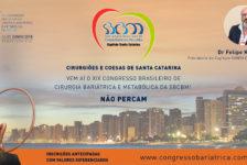 CONVITE PARA O XIX CONGRESSO DA SBCBM – Dr Felipe Koleski, Presidente do Capítulo SANTA CATARINA