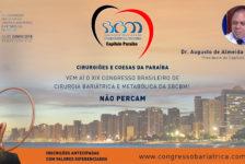 CONVITE PARA O XIX CONGRESSO DA SBCBM – Dr. Augusto de Almeida Junior, Presidente do Capítulo PARAÍBA