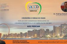 CONVITE PARA O XIX CONGRESSO DA SBCBM – Dr. Rodrigo Babadopulos – Presidente do Capítulo CEARÁ