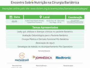2º módulo do Bariátrica Sul vai abordar nutrição na cirurgia