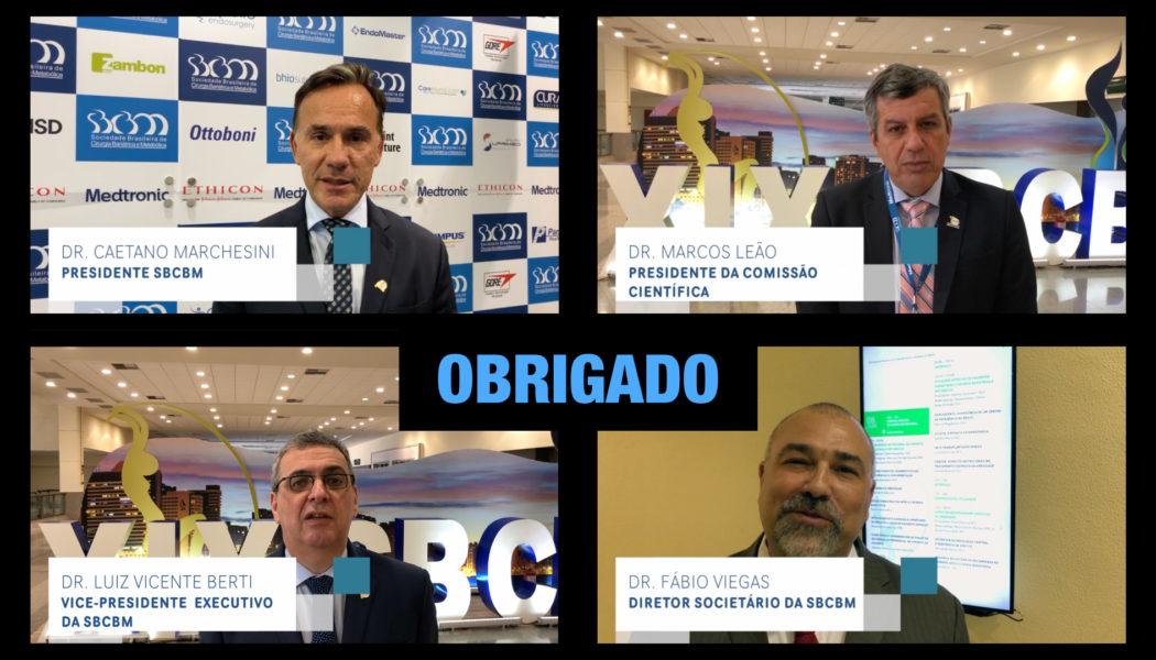Sucesso absoluto: obrigado a todos que participaram do XIX Congresso Brasileiro de Cirurgia Bariátrica e Metabólica.
