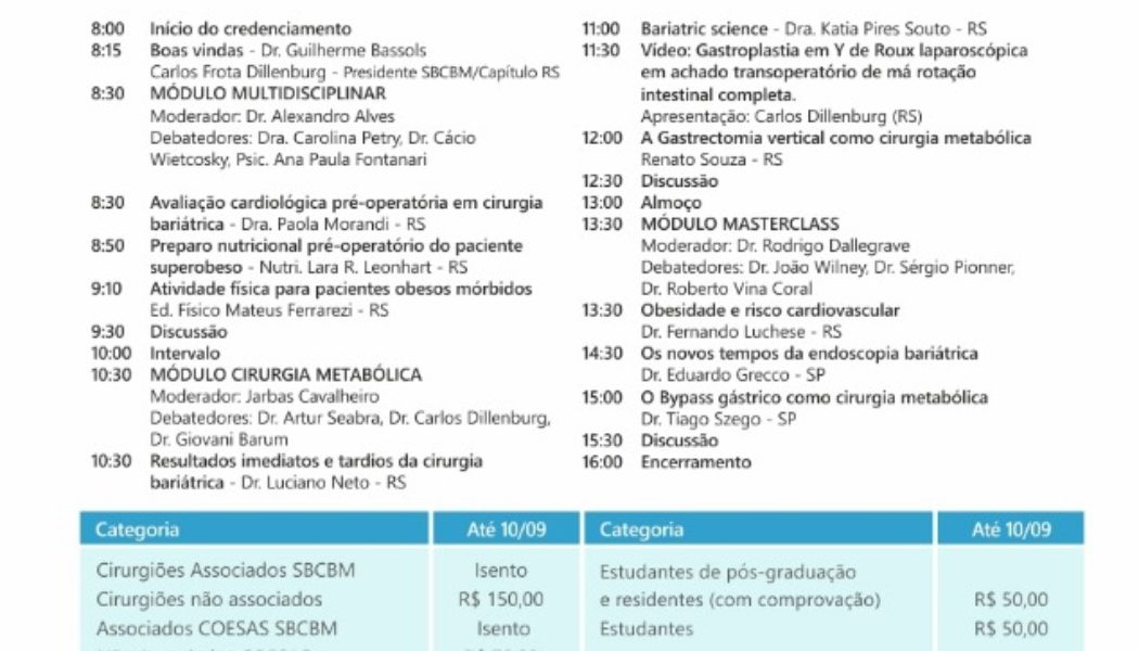 Bariátrica Sul vai discutir o Impacto da Bariátrica nas doenças cardiovasculares