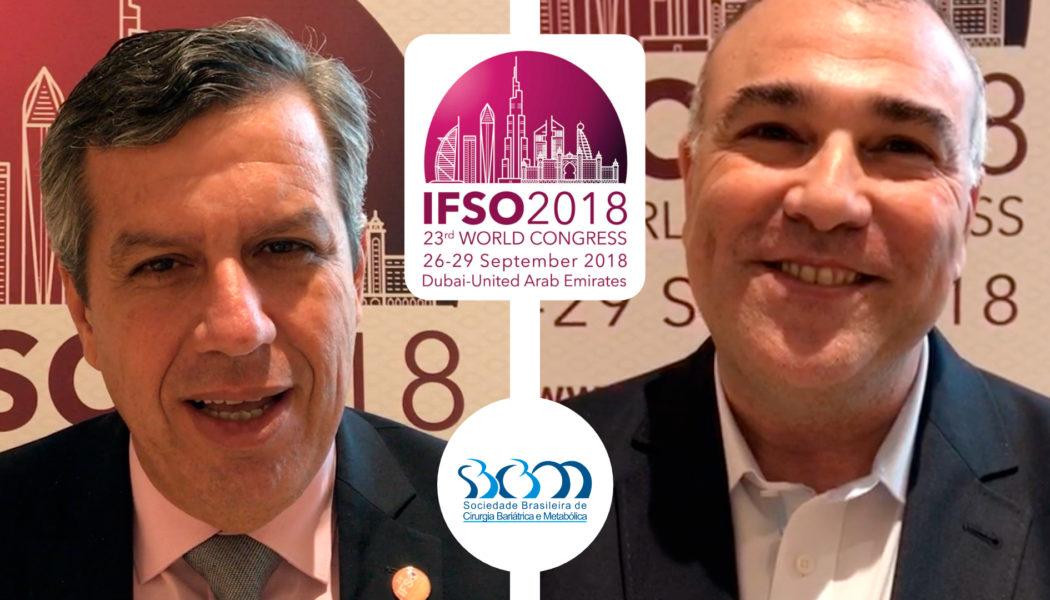 Dr. Marcos Leão e Dr. Fábio Viegas no Congresso Mundial de Cirurgia Bariátrica, em Dubai