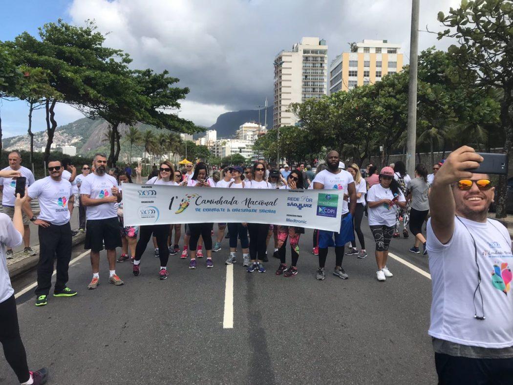 Milhares de pessoas participaram da 1ª Caminhada Nacional de Combate à Obesidade em todo Brasil