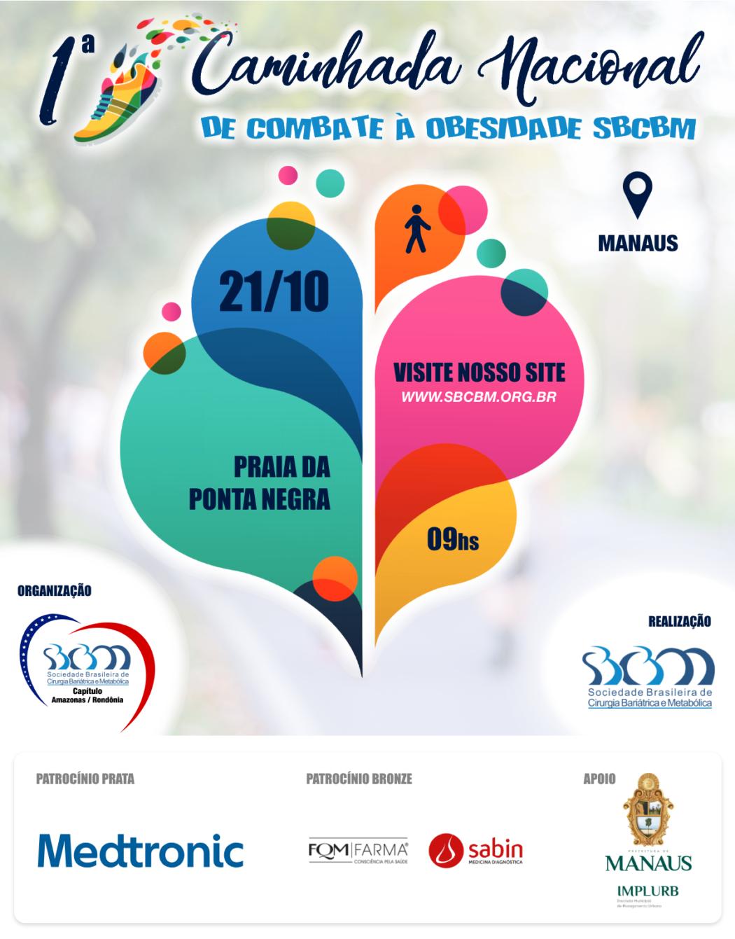 Praia da Ponta Negra recebe 1ª Caminhada Nacional de Combate à Obesidade