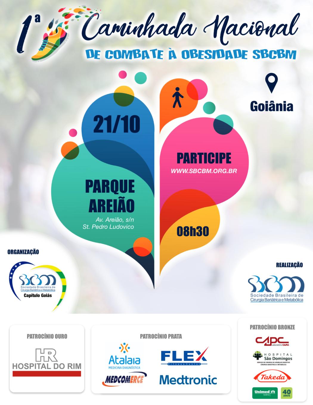 Parque Areião recebe 1ª Caminhada Nacional de Combate à Obesidade neste domingo