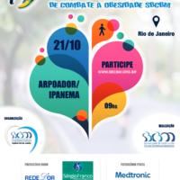 Praia do Arpoador recebe 1ª Caminhada Nacional de Combate à Obesidade neste domingo