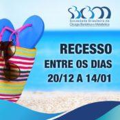 SBCBM entra em recesso entre os dias 20 de dezembro e 14 de janeiro