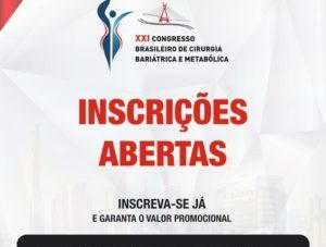 SBCBM abre inscrições para XXI Congresso de Cirurgia Bariátrica