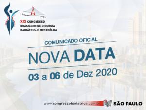COMUNICADO OFICIAL – XXI Congresso SBCBM